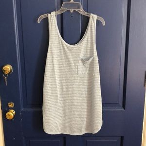 Blue and Grey Tank Top